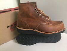 NEW RED WING 8886 LIMITED EDITION MENS 10D MOC TOE BOOTS COPPER ROUGH AND TOUGH