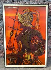 Vintage Mid Century Modern VAN GAARD Drip Art Oil Painting on Board Conquistador
