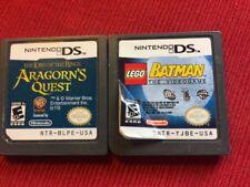 LOTR Aragorns Quest + Lego Batman (Nintendo DS Game Lot) - Tested and Guaranteed