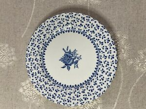 Royal Victoria Rose Bouquet Blue & White Side Plate