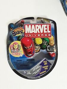NEW SEALED Marvel Universe Mighty 4 Beanz 2010 Iron Man Target Exclusive