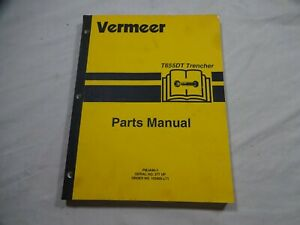 Vermeer T-655DT Tractor and Trencher Parts Catalog Manual 105400-Q48 105400-L71