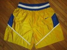 7f306c9463 vtg 80s 90s NIKE SHORTS Gold Yellow Blue White Nylon Basketball Boxing Mens  XL