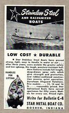 1950 Print Ad Star Metal Boats Galvanized & Stainless Steel Goshen,In