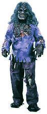 Boys Zombie Halloween Fancy Dress Costume + Wig Kids Walking Dead White Walker
