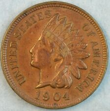 1904 Indian Head Cent Vintage Penny Old US Coin Liberty Full Rims Fast S&H 78231