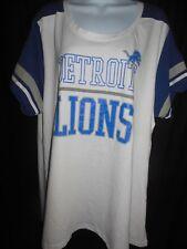 Detroit Lions Women's Majestic Swoop Neck Shirt Size 2X Plus Size