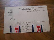 Antique 1902 Postcard Eagle Foundry Montreal Canada Multiscope Film Burlington