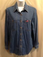 Casual Corner ANNEX DENIM Long Sleeve Top Shirt Women's Size SMALL