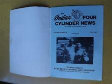 INDIAN MOTORCYCLE 4 CYLINDER NEWS MAGAZINE FALL 1987 GAMES PHOTOS INFORMATION