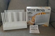 West Bend Folding Bread Slicing Guide For Homemade Bread #6600X With Box Manual