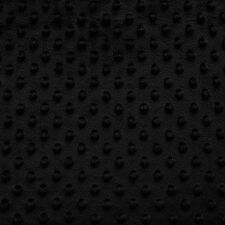 """MINKY DIMPLE DOT FABRIC BLACK 60"""" WIDTH SOFT BABY SEW SOLD BY THE YARD"""