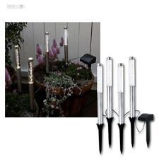 LED Solare Lampada da giardino bianco caldo 4 set bar LUMINOSI vetro acrilico