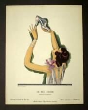 Illustration pochoir original LA GAZETTE DU BON TON Chaussure modèle de Pérugia