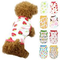 Summer Pet Vest Apparel Printed Shirt Puppy Dog T-Shirt Clothes Cartoon