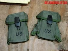 Military Army M16 Small Arms Ammo Pouch W/ Alice Clips Holds 3 Mags (Lot of 2)