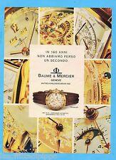 QUATTROR992-PUBBLICITA'/ADVERTISING-1992- BAUME & MERCIER - TRANSPACIFIC ORO 18K