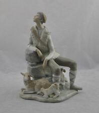 "Rare Vintage Retired Lladro #4571 ""Shepherd Resting"" Porcelain Figurine"