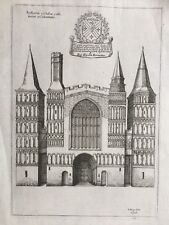 1655 Antique Print; Rare View; Rochester Cathedral from Monasticon Anglicanum