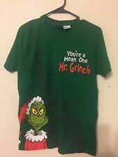 "Org. Dr. Seuss "" You are a Mean One Mr. Grinch Medium Rare Tee shirt M"