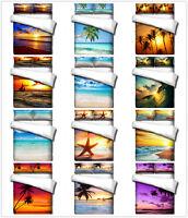 3D Beach Ocean Setting Sun Wave Duvet Cover Bedding Set Quilt Cover Pillow Sham