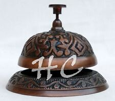Vintage Antique Ornate Brass Desk Bell Hotel Front Counter Bell Sales Service