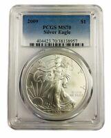 2009 1oz American Silver Eagle PCGS MS70 - Blue Label