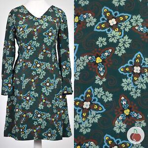 GREEN FLORAL 1960s VINTAGE BOHO MINI DRESS 12