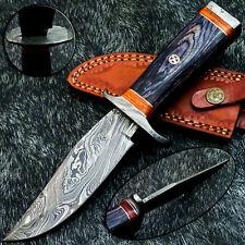 "Stunning Handmade Damascus Steel Blade 10.0"" Hard Wood - Hunting Knife TM-9876"