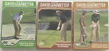DAVID LEADBETTER Golf Lesson DVD x 3 All Regions PAL