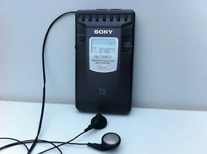 Sony SRF-SX80RV Receiver Radio PLL Synthesized FM/AM/TV Retractable Headphones