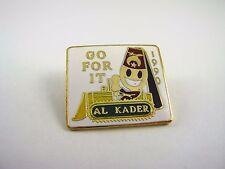 Vintage Lapel Hat Pin: 1990 Go For It Al Kader Bulldozer