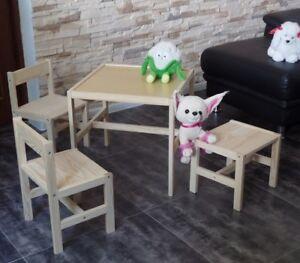 Kindersitzgruppe Kindertisch Kinderstuhl Kinderhocker Kinder Möbel Massivholz