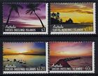 2012 COCOS ISLANDS SKIES OF COCOS SET OF 4 FINE MINT MNH/MUH
