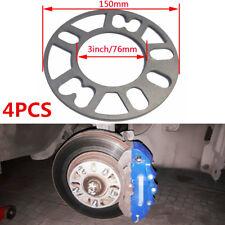 4PCS 5MM Aluminum Car Wheel Spacers Shims for 4/5 Stud P.C.D 98-121mm Universal