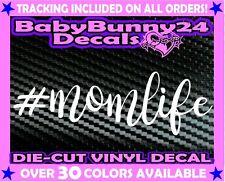 #momlife Mom Life Mother Kids Minivan Vinyl Decal Sticker Car Truck Laptop