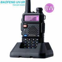 BaoFeng UV-5R 8W 136-174/400-520MHz Dual-Band DTMF Ham 2 way radio Walkie Talkie