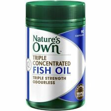 NATURE'S OWN TRIPLE CONCENTRATED FISH OIL 1500MG STRENGTH ODOURLESS 90 CAPSULES