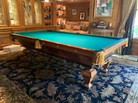 Brunswick balke collender 9' antique pool table| billiards great condition
