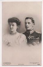 Vintage Postcard Duchess Sophia Charlotte of Oldenburg & Prince Eitel Friedrich