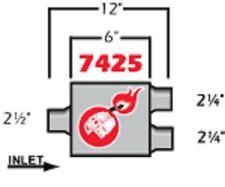 Cherry Bomb Extreme Muffler 7425cb 4 Inch X 9 34 Inch Oval Centerdual New
