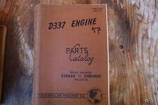CAT Caterpillar D337 Engine Parts Manual book catalog spare list index OEM 1957