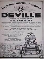 PUBLICITÉ DEVILLE PRÉSENTE SON NOUVEAU MOTEUR 15 CV 2 CYLINDRES