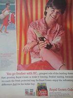 1963 Royal Crown RC Cola Soda Carol Breckenridge World of Fashion Original Ad