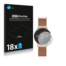 18x Displayschutzfolie für Skagen Smartwatch Falster 40mm Klar Schutzfolie