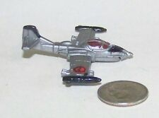 Small Micro Machine US Air Force A-37 Dragon Fly Attack Jet in Bare Metal Gray