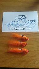"3x Ally's Shrimp 1/2"" Copper Tube Salmon Fishing Flies FREE POSTAGE"