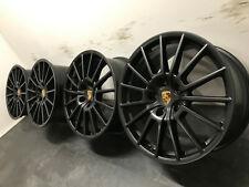 """Original Porsche 970 Panamera Turbo Sport Rad Felgen 20"""" Schwarz Matt NEU Felge"""