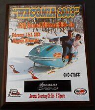 "Waconia 2003 Collector ""Sponsor"" Plaque Featuring Johnson Skee-Horse Snowmobile"