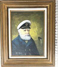 Original Oil Canvas Painting by VAN MEER 1810-1868 *Signed Sea Captain Nautical